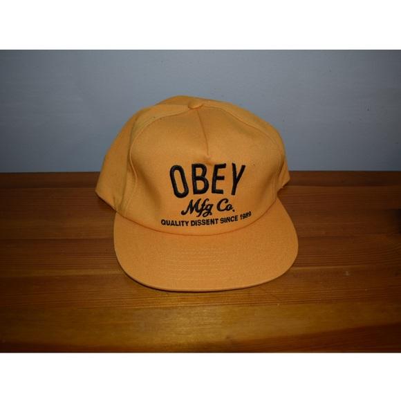 dc5ae314068 OBEY Snapback Hat. M 5a82195046aa7cf3a45925fa